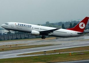 Turkish Airlines jet forced to land after suspected engine flame