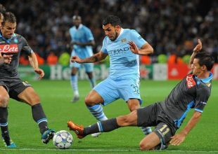 Man City's Tevez fined four weeks wages