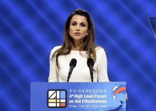Queen Rania calls for 'regional renaissance' on Arab jobs