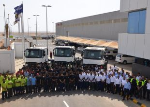 First Saudi-built Renault trucks roll off assembly line