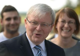 Australia's former PM Rudd throws hat in ring for top UN job
