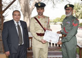Dubai policeman fines himself for hitting parked car