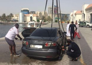 Dubai police recover car from the Creek