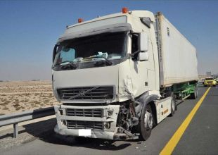 Police arrest truck driver involved in Abu Dhabi pile-up