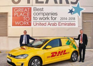 DHL Express unveils first electric car to carry out Dubai deliveries