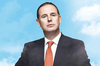 Plane talking: Etihad boss Tony Douglas