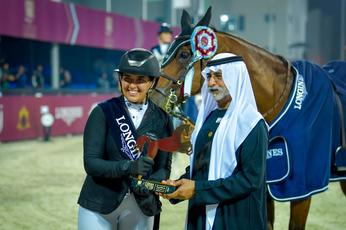 Sheikh Nahyan honours winners of International Show Jumping Cup