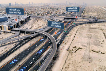 Roads and bridges completed for Dubai Hills Mall project