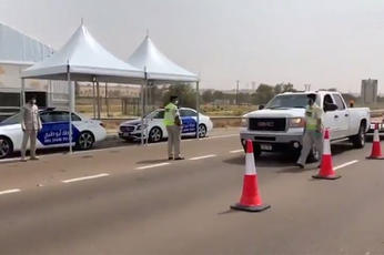 Abu Dhabi Police set up 12 checkpoints as part of Covid-19 movement restrictions