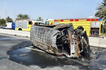 Two dead, 12 injured in Dubai road accident