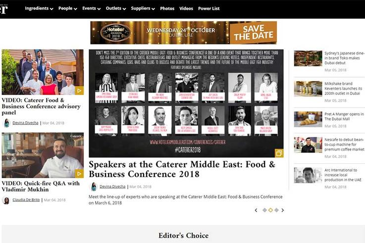 Caterer Middle East launches its own website