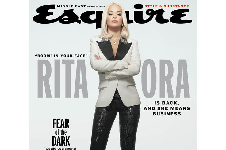 Rita Ora chosen for first ever female cover shoot in Esquire Middle East