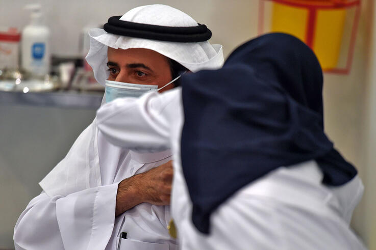Saudi health minister among first inoculated as coronavirus vaccine roll-out begins