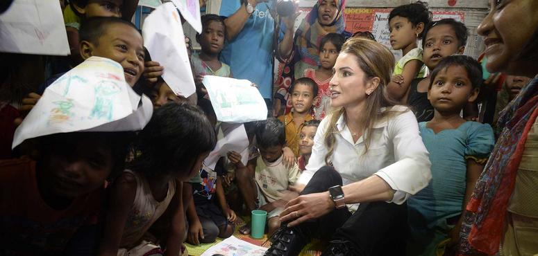 Video: Queen Rania on Rohingya crisis - misery everywhere