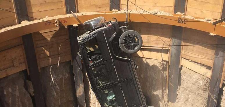Man rescued after driving into 15-foot hole in Dubai