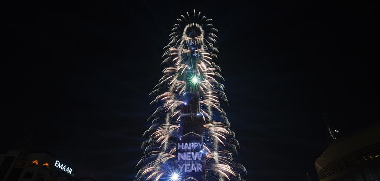 Dubai rings in new year with spectacular fireworks display