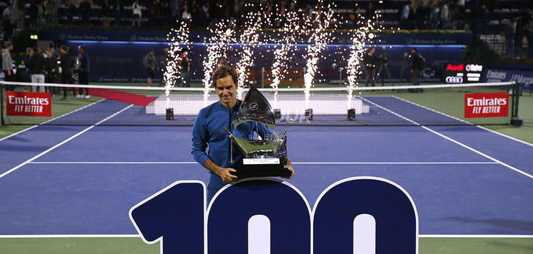 In pictures: Roger Federer wins his eighth Dubai title