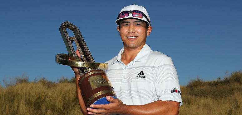In pictures: American golfer Kurt Kitayama's single shot victory at the Oman Open