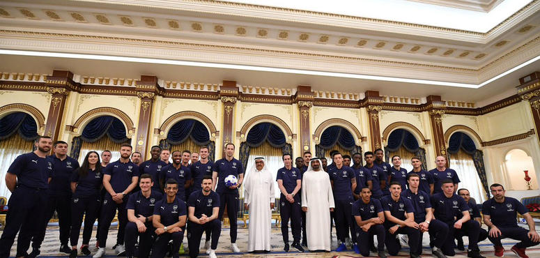 In pictures: Arsenal FC players meet Sheikh Ahmed