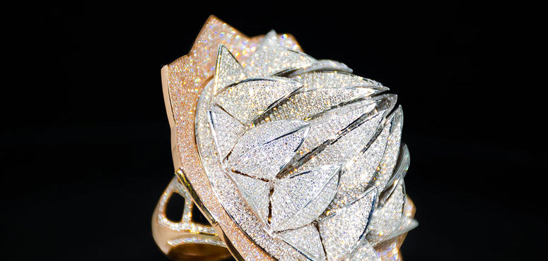 Put a $4.9m diamond ring on it: Sharjah showcases Lotus Temple-inspired jewel