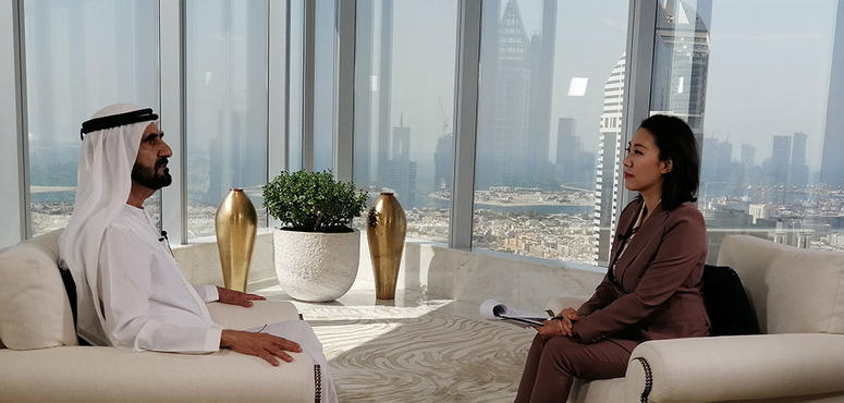 In pictures: Dubai ruler exclusive interview with Chinese TV