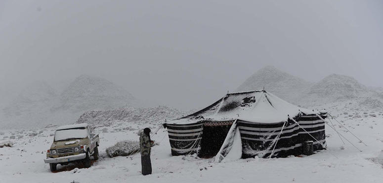 In pictures: Heavy snow blankets northwestern regions of Saudi Arabia