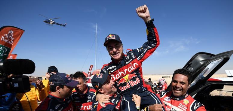 Carlos Sainz wins first Dakar Rally to be held in Saudi Arabia