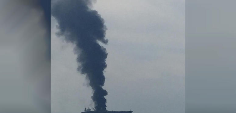 Crew rescued from blazing tanker off UAE