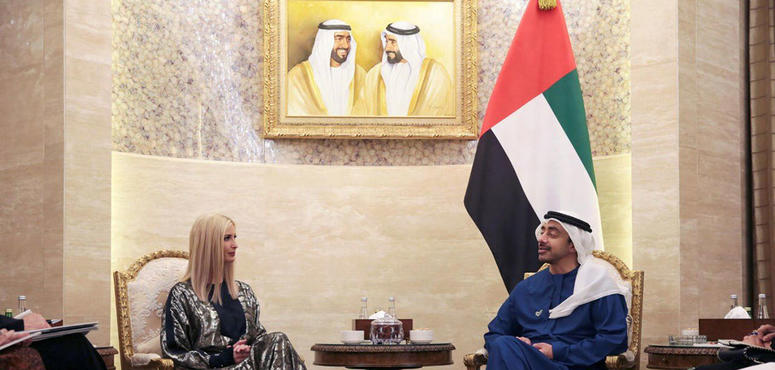 In pictures: Ivanka Trump arrives in the UAE