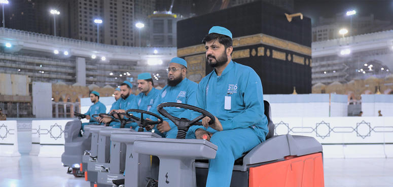 In pictures: Makkah's Grand Mosque disinfected six-times daily