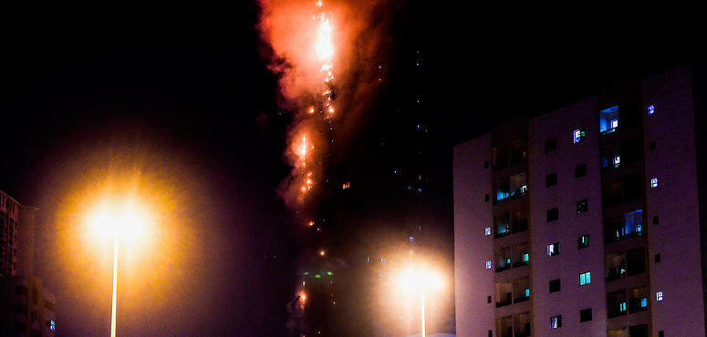Discarded cigarette to blame for Sharjah tower blaze, reports