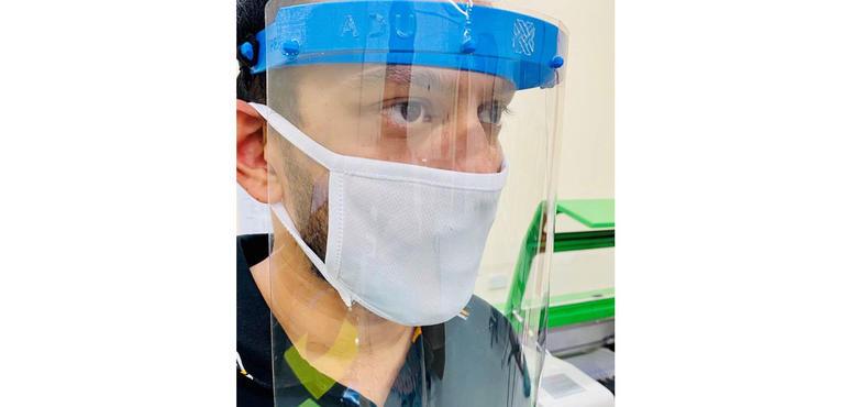 Abu Dhabi University students produce face shields