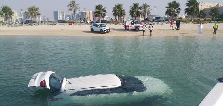 Dubai Police save woman who accidentally drove car into creek