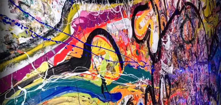 Video: British artist in Dubai creates record-breaking artwork