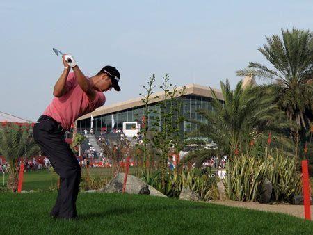Abu Dhabi golf action