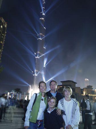 Crowds at Burj Khalifa opening