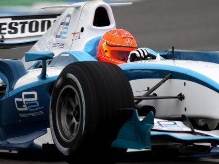 Michael Schumacher test drives in Jerez