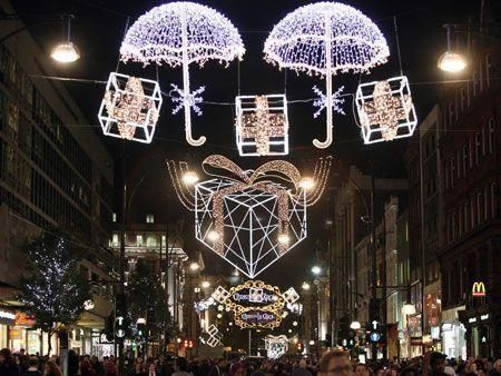 Christmas arrives in London shops