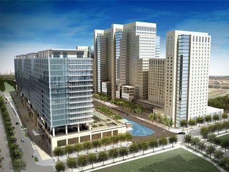 Aerial photos of major Dubai project