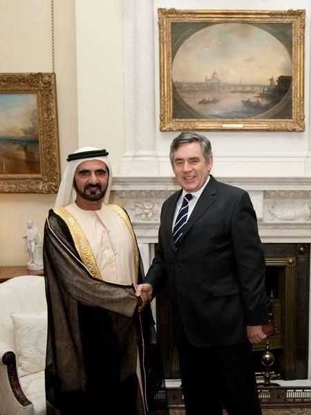 Sheikh Mohammed and Gordon Brown hold talks