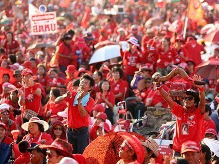 Thaksin supporters stage demonstration