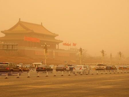 Sandstorm strikes China