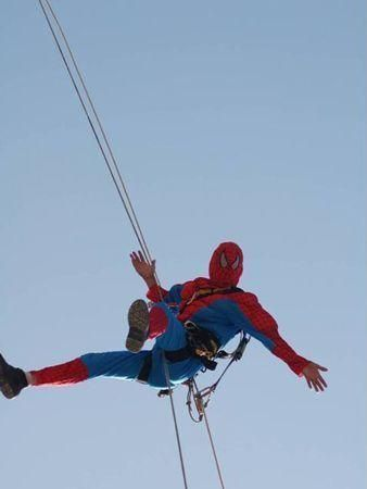 Spidermen in action in Dubai