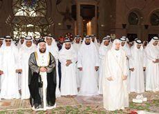 UAE president performs funeral prayers