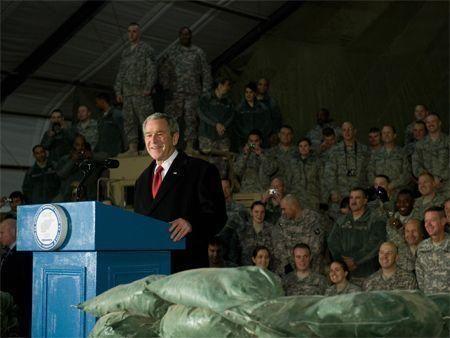 Bush in Iraq, Afghanistan
