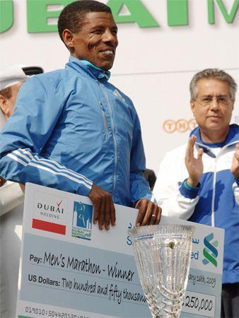 Haile wins Dubai Marathon