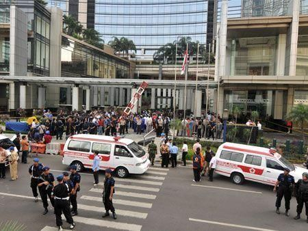 Bomb attacks on two Jakarta hotels