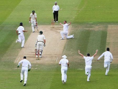 England celebrate second Ashes Test