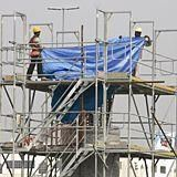 Heavy rainfall slows construction sector