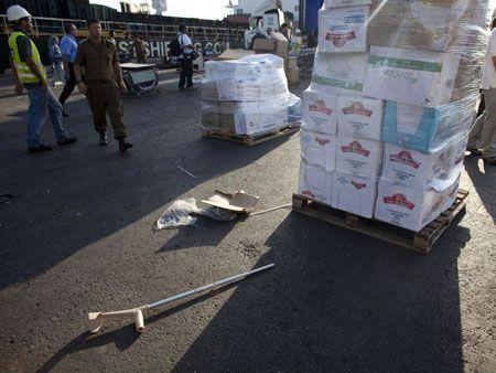 Gaza latest - aid seized from flotilla